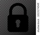 black lock icon vector eps10   Shutterstock .eps vector #1015174549