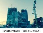 blurred building site | Shutterstock . vector #1015175065