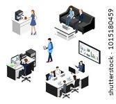 isometric 3d illustration... | Shutterstock . vector #1015180459