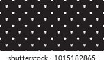 Stock vector cat seamless pattern vector kitten head isolated polka dot wallpaper background black 1015182865