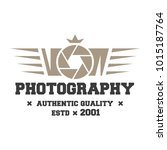 photography logos  badges and...   Shutterstock .eps vector #1015187764