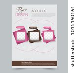pink and brown business flyer.... | Shutterstock .eps vector #1015190161