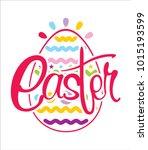 easter holiday logo | Shutterstock .eps vector #1015193599