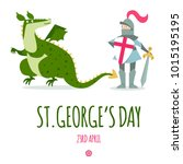 st. george's day card with... | Shutterstock .eps vector #1015195195