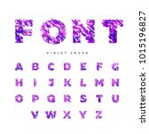 fragile letters in pink  ... | Shutterstock .eps vector #1015196827