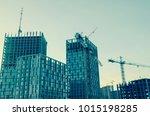 building construction site | Shutterstock . vector #1015198285