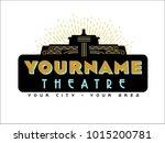 an art deco style marquee logo... | Shutterstock .eps vector #1015200781