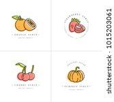 vector set design colorful... | Shutterstock .eps vector #1015203061
