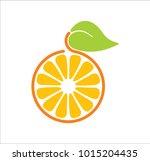 logo orange in a cut | Shutterstock .eps vector #1015204435