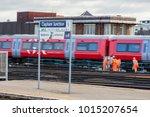 clapham junction  london  uk ...   Shutterstock . vector #1015207654