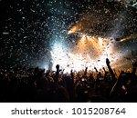 fans cheering at concert | Shutterstock . vector #1015208764