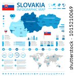 slovakia infographic map and...   Shutterstock .eps vector #1015210069