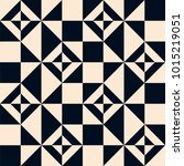 seamless monochrome geometry... | Shutterstock .eps vector #1015219051