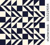 seamless monochrome geometry... | Shutterstock .eps vector #1015219054