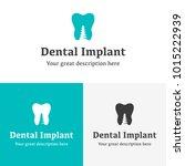 health dental implant logo... | Shutterstock .eps vector #1015222939