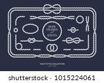 nautical rope knots and frames... | Shutterstock .eps vector #1015224061