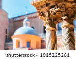 decoration of column of... | Shutterstock . vector #1015225261