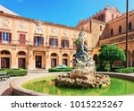 street view with monreale... | Shutterstock . vector #1015225267