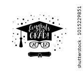template of the graduation... | Shutterstock .eps vector #1015229851