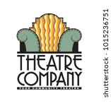 a vector logo for a theatre or... | Shutterstock .eps vector #1015236751