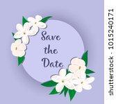 vector flowers set. beautiful... | Shutterstock .eps vector #1015240171
