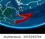 somalia in red with visible... | Shutterstock . vector #1015243744