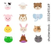 vector set of animals | Shutterstock .eps vector #1015245169