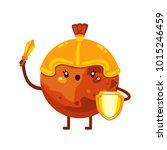 cartoon mars with sword  planet ... | Shutterstock .eps vector #1015246459