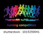 running people. running... | Shutterstock . vector #1015250041