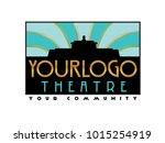 an art deco style logo for a... | Shutterstock .eps vector #1015254919