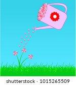 paper heart for valentantine's... | Shutterstock .eps vector #1015265509