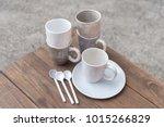 empty bowl on rustic wood ... | Shutterstock . vector #1015266829