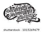 Graffiti Font. Spray Paint...