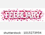 february single word with... | Shutterstock .eps vector #1015273954