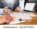 business meeting office.... | Shutterstock . vector #1015275025