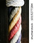 color rope design white knot... | Shutterstock . vector #1015277284