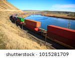 union pacific train near idaho... | Shutterstock . vector #1015281709