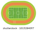 aerial view of a soccer field... | Shutterstock .eps vector #1015284097