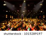 crowd show microphone | Shutterstock . vector #1015289197