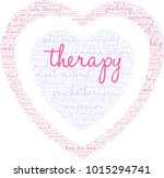 therapy word cloud on a white... | Shutterstock .eps vector #1015294741