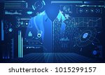 abstract technology science...   Shutterstock .eps vector #1015299157