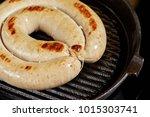 grilled pork hot sausages in... | Shutterstock . vector #1015303741