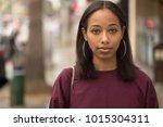 young black woman portrait face ...   Shutterstock . vector #1015304311