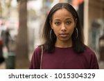 young black woman portrait face ...   Shutterstock . vector #1015304329