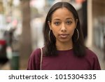 young black woman portrait face ...   Shutterstock . vector #1015304335