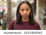 young black woman portrait face ...   Shutterstock . vector #1015304341