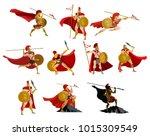 spartan powerful warriors | Shutterstock .eps vector #1015309549