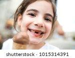 dirty cute girl | Shutterstock . vector #1015314391