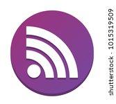 rss sign illustration. vector.... | Shutterstock .eps vector #1015319509