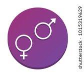 sex symbol sign. vector. white... | Shutterstock .eps vector #1015319629